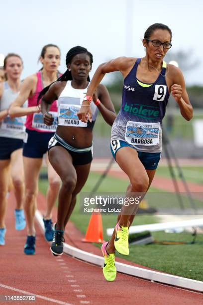 Kleidiane Barbosa competes in the women's 1500 meter run on the first day of the 61st Mt SAC Relays at Murdock Stadium at El Camino College on April...