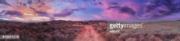 klein karoo farm house sunset - the karoo stock photos and pictures