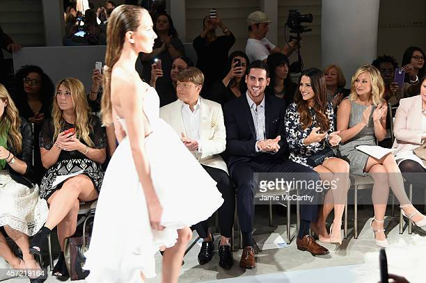 Kleinfeld Bridal Fashion Director Terry Hall television personalities Josh Murray and Andi Dorfman and actress Alyshia Ochse sit front row at The...