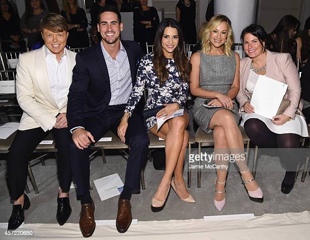 Kleinfeld Bridal Fashion Director Terry Hall television personalities Josh Murray and Andi Dorfman actress Alyshia Ochse and guest sit front row at...