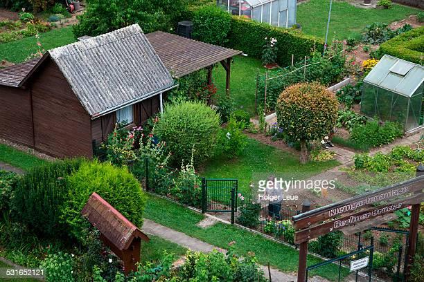 Kleingartenanlage private small gardens
