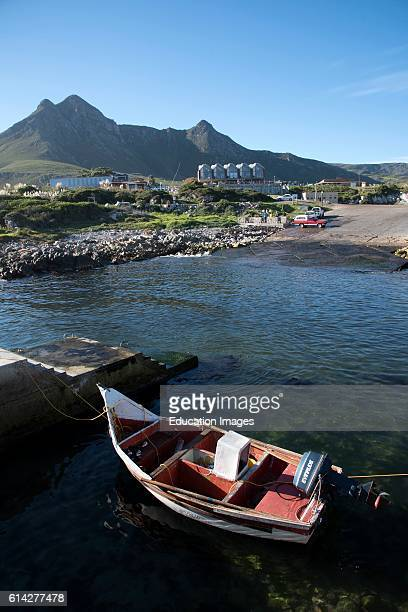 Kleinmond Harbor Western Cape South Africa the Small Harbour In the Popular Holiday Coastal Town of Kleinmond In Southern Africa.