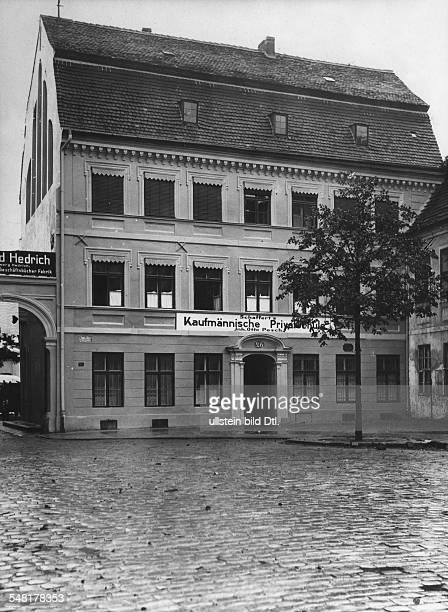 Kleist Heinrich von *1810177721111811 Schriftsteller D Geburtshaus in Frankfurt/Oder Aussenansicht 1927