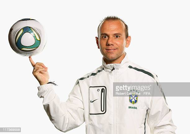 Kleiton Lima head coach of Brazil during the FIFA portrait session on June 26 2011 in Dusseldorf Germany