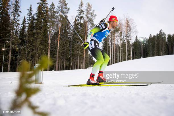 Klemen Bauer of Slovakia competes during the Mens 10 km Sprint Competition at the BMW IBU World Cup Biathlon Oestersund at Swedish National Biathlon...