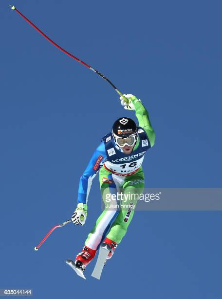 Klemen Kosi of Slovenia competes in the Men's Combined Downhill during the FIS Alpine World Ski Championships on February 13 2017 in St Moritz...