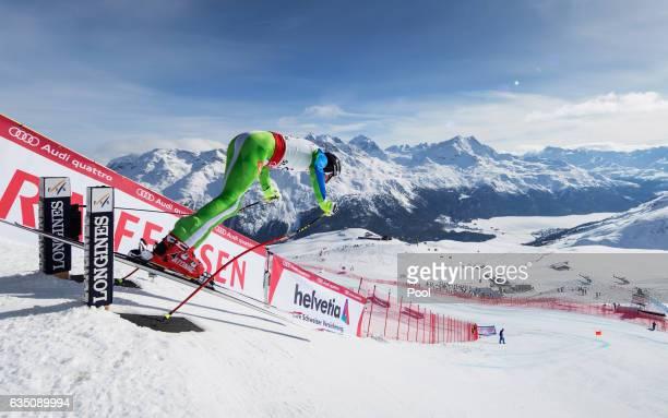 Klemen Kosi of Slovenia starts in the Men's Downhill during the FIS Alpine World Ski Championships on February 12 2017 in St Moritz Switzerland