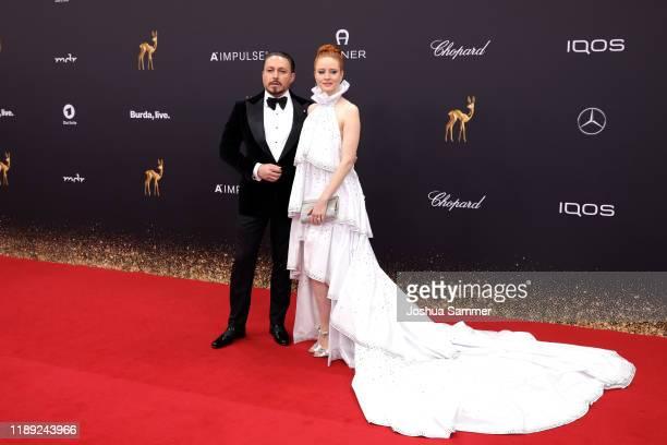 Klemens Hallmann and Barbara Meier attend the 71st Bambi Awards at Festspielhaus BadenBaden on November 21 2019 in BadenBaden Germany