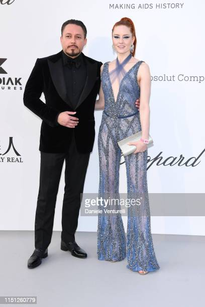 Klemens Hallmann and Barbara Meier attends the amfAR Cannes Gala 2019 at Hotel du CapEdenRoc on May 23 2019 in Cap d'Antibes France