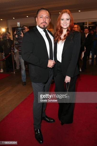 Klemens Hallmann and Barbara Meier during the Schwarzenegger climate initiative charity dinner prior the Hahnenkamm Ski Races at Country Club on...