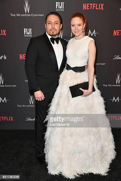 Klemens Hallmann and Klemens Hallmann;Barbara Meier attends The Weinstein Company and Netflix Golden Globe Party, presented with FIJI Water, Grey...