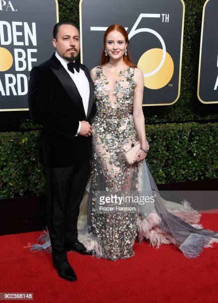 Klemens Hallmann and model Barbara Meier attends The 75th Annual Golden Globe Awards at The Beverly Hilton Hotel on January 7 2018 in Beverly Hills...