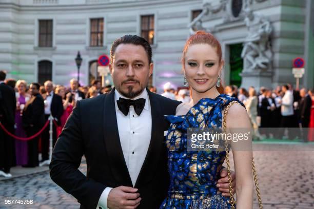 Klemens Hallmann, Barbara Meier during the Fete Imperiale 2018 on June 29, 2018 in Vienna, Austria.