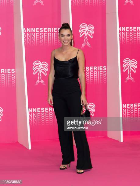 Kleofina Pnishi attends the Pink Carpet Day Six at the 3rd Canneseries on October 14 2020 in Cannes France