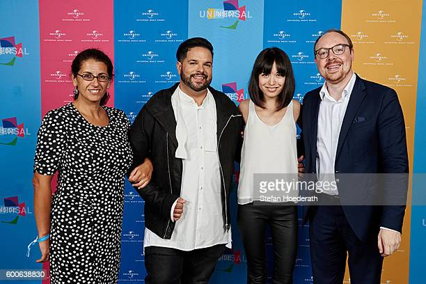 Kleopatra Sofroniou Fernando Varela Alice Sara Ott and Dr Clemens Trautmann pose for a photo during Universal Inside 2016 organized by Universal...
