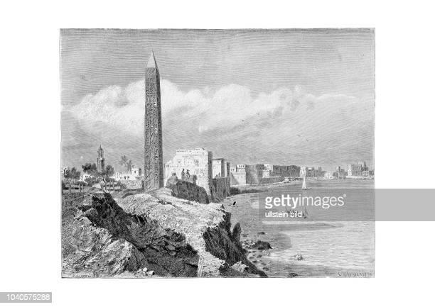 Kleopatra-Obelisk 1876. Aus: Georg Moritz Ebers, Aegypten in Bild und Wort, Stuttgart und Leipzig 1879. Die Kleopatra-Obelisken haben nichts mit der...