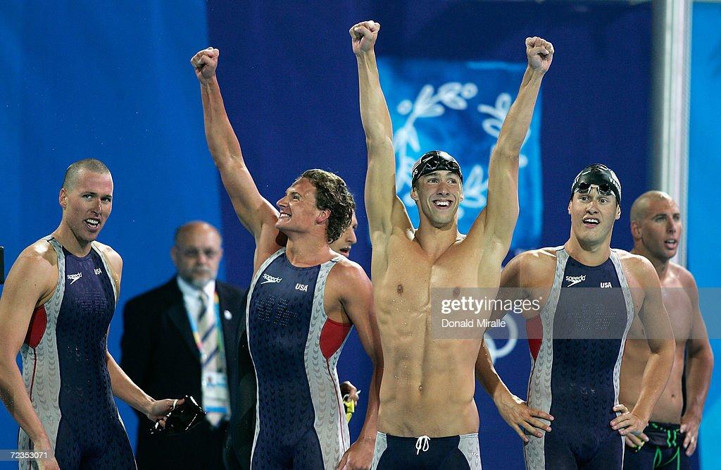 Klete Keller, Michael Phelps, Ryan Lochte and Peter ...
