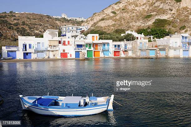 Klima village in Milos, Greece