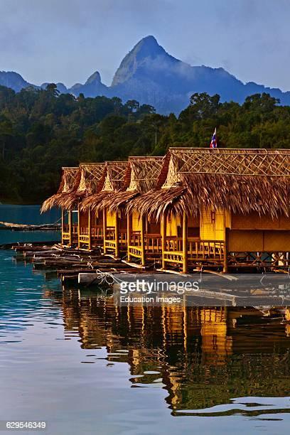 Klong Yee Raft House On Cheow En Lake In Khao Sok National Park Thailand