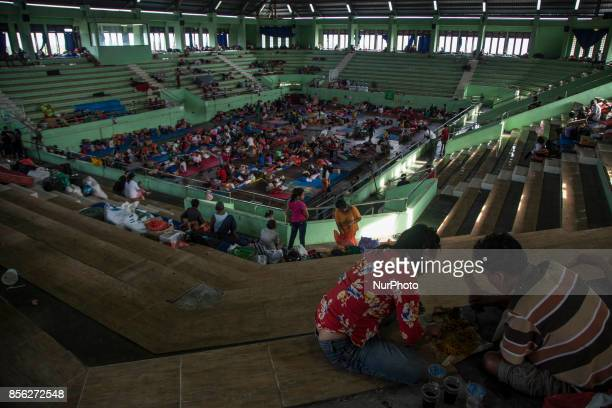 Klungkung Bali Indonesia 01 October 2017 With total almost one hundreds forty thousands of refugees surrounding area of safe place in Bali refugee...