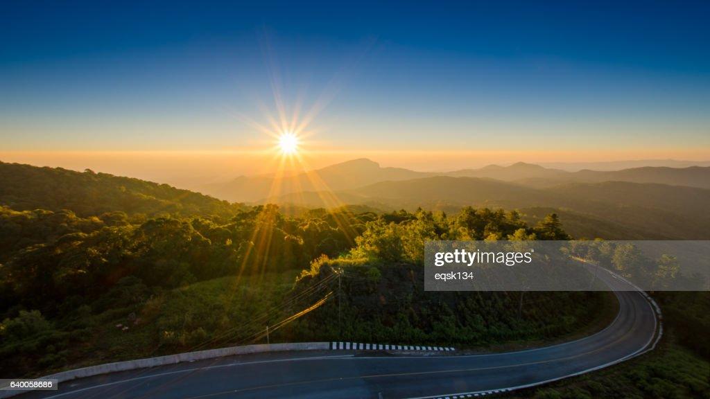 41 km Viewpoint at Doi Inthanon National Park : Stock Photo