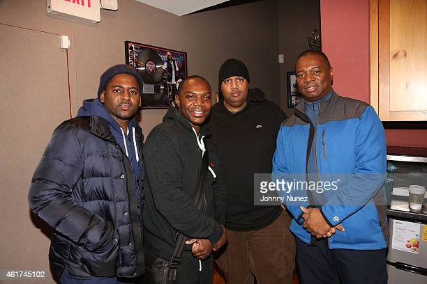OB Kmack John Cohen and Walter R Brooks Jr attend in studio on January 18 2015 in Weehawken New Jersey