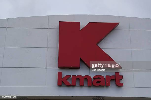 Kmart sign is seen outside one of their stores on September 22 2016 in Miami Florida Kmart now a part of Sears holdings according to reports is...