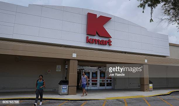 Kmart store is seen on September 22 2016 in Miami Florida Kmart now a part of Sears holdings according to reports is closing 64 stores around the...