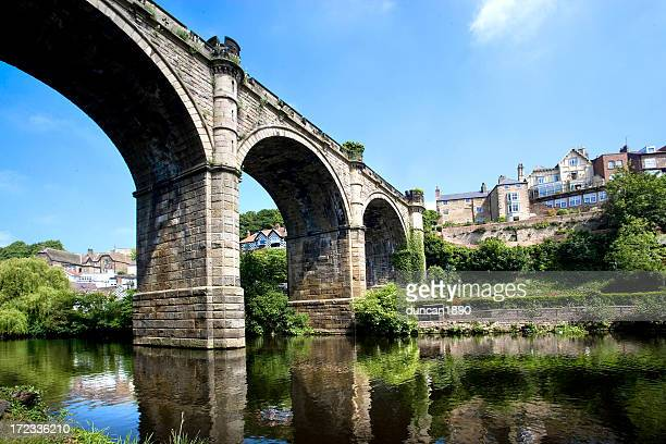 knaresborough bridge - northeastern england stock photos and pictures