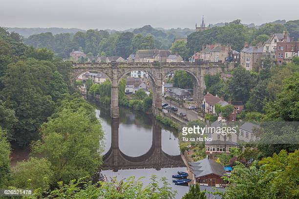 knaresborough viaduct - harrogate stock pictures, royalty-free photos & images