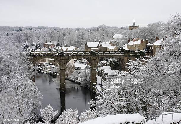 Knaresborough Yorkshire in snow