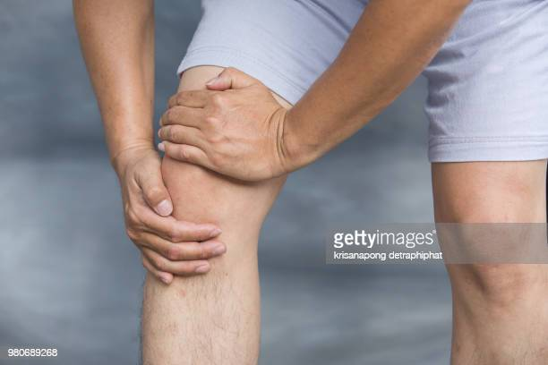 knee ache - gout stock photos and pictures