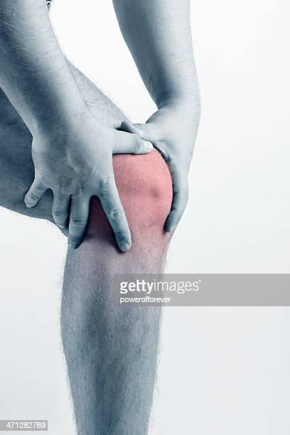 knee pain - swollen stock photos and pictures