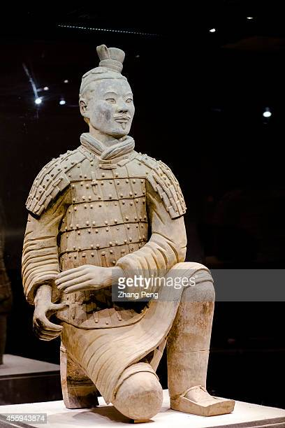 XI'AN SHAANXI CHINA Kneeling archer is one kind of the terracotta figures It was unearthed in good condition without any repairs It is regarded as...