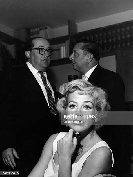 Knef Hildegard actress singer Germany*In the background at the left Arthur Koester and at the right Gerhard Winkler ca 1960 Vintage property of...