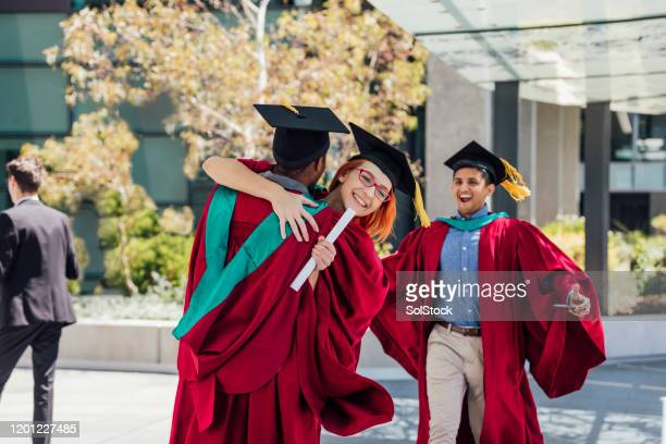 i knew we could do it! - alumni stock pictures, royalty-free photos & images
