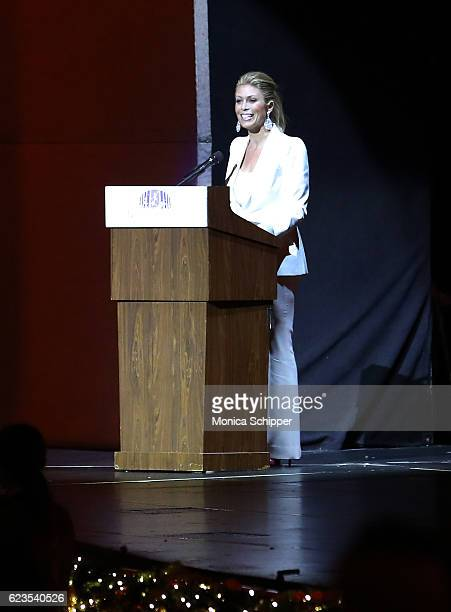 Knicks broadcaster and Today Show contributor Jill Martin speaks on stage during the Christmas Spectacular Starring The Radio City Rockettes Opening...