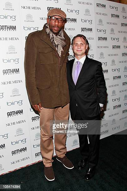 Knicks Forward Amar'e Stoudemire and Niche Media Holdings Founder Jason Binn attend the 10th Annual Gotham Magazine gala at Capitale on October 14...