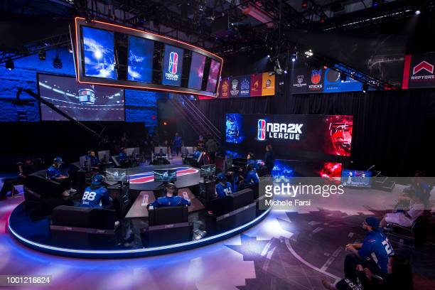 Knicks Gaming plays 76ers Gaming Club on July 7 2018 at the NBA 2K Studio in Long Island City New York NOTE TO USER User expressly acknowledges and...