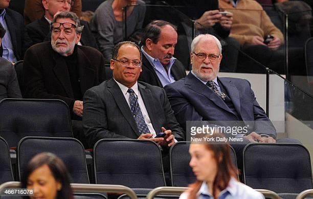 Knicks President Phil Jackson 1st quarter New York Knicks vs Boston Celtics at Madison Square Garden Manhattan NY February 3 2015