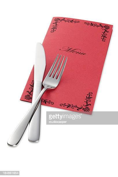 ナイフとフォークのメニュー