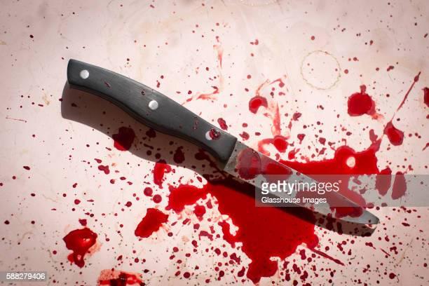 Knife with Splattered Blood