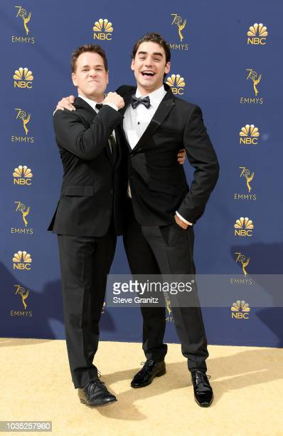 T R Knight and Alex Rich attend the 70th Emmy Awards at Microsoft Theater on September 17 2018 in Los Angeles California