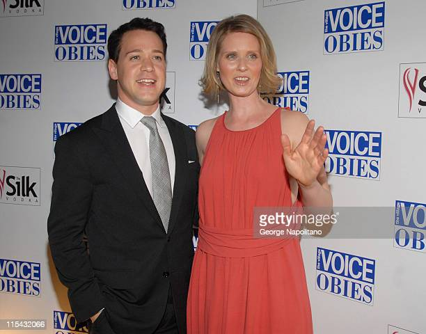 TR Knight and Cynthia Nixon during 52nd Annual Village Voice Obie Awards at Jack H Skirball Center for the Performing Arts in New York City New York...