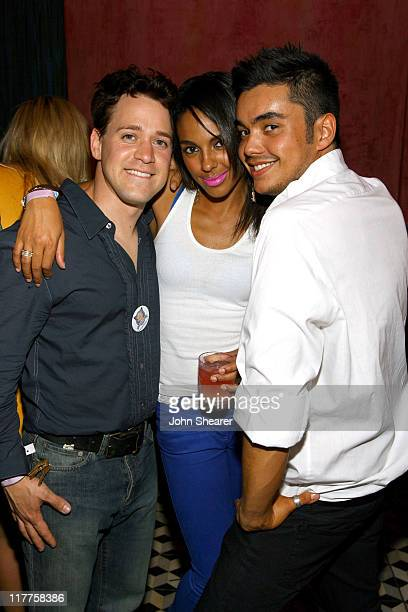 TR Knight and Marsha Thomason with guest during Mika Concert and After Party at Avalon Sponsored by Hollywood Life June 8 2007 at Avalon in Hollywood...