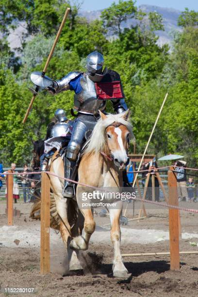 Knight in a Suit of Armour Jousting