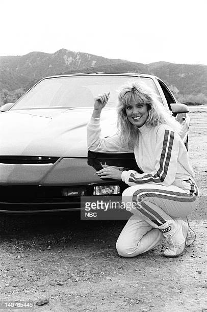 RIDER Knight of a Thousand Devils Episode 17 Pictured Kathy Shower as Claudia Torrell with KITT Photo by Jerry Wolfe/NBCU Photo Bank