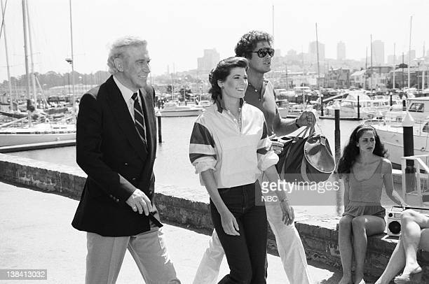 RIDER Knight of the Drones Part 1 Episode 1 Pictured Edward Mulhare as Devon Miles Patricia McPherson as Bonnie Barstow David Hasselhoff as Michael...