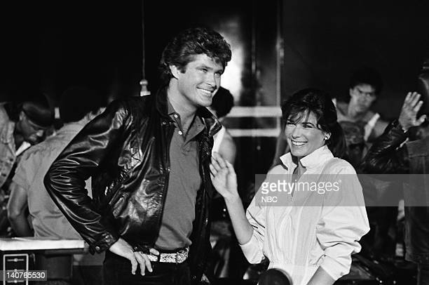 RIDER Knight of the Juggernaut Episode 1 Pictured David Hasselhoff as Michael Knight Patricia McPherson as Bonnie Barstow Photo by Gary Null/NBCU...