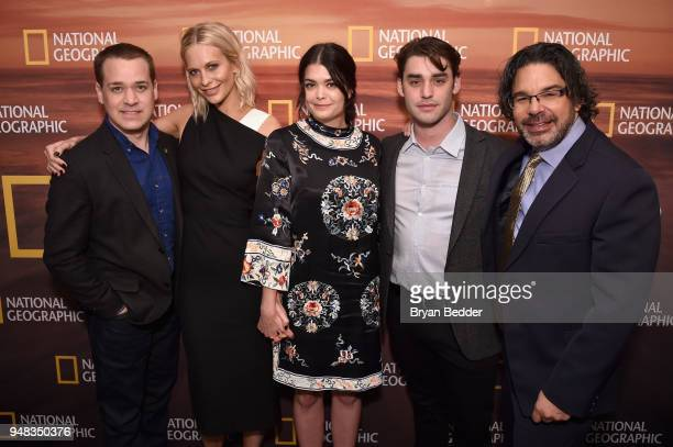 TR Knight Poppy Delevingne Samantha Colley Alex Rich and Ken Biller of 'Genius Picasso' attend National Geographic's FURTHER Front immersive...